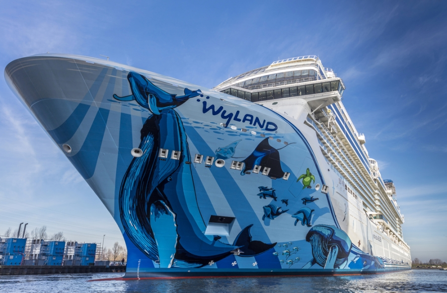 Norwegian Cruise Line, shipyard, NCL, Bliss, ship, build, launch, float out, Germany, sailings, mega-ship, karting, race track, Meyer Werft