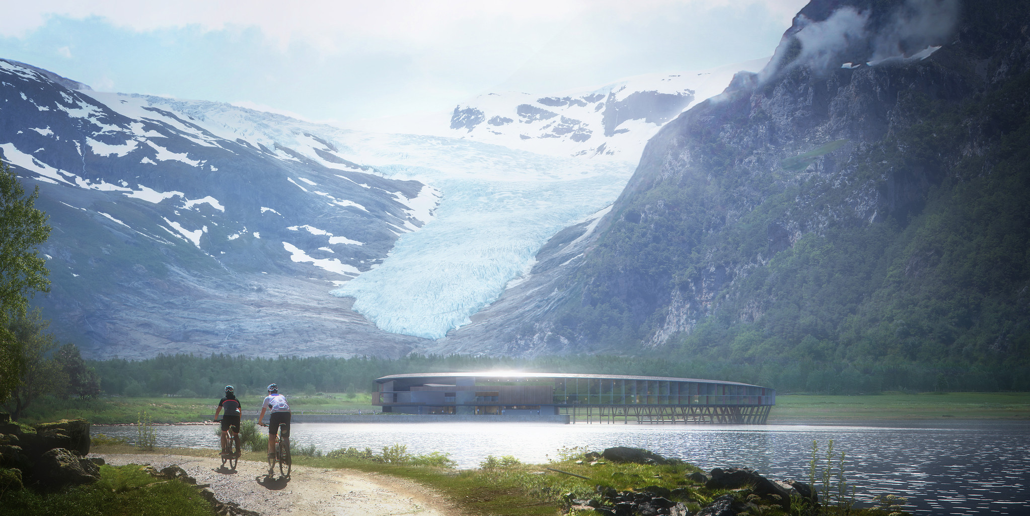 Svart, hotel, Svartisen, environment, energy positive, carbon neutral, glacier, Bodo, Norway, stay, circular, Snøhetta, design, architecture