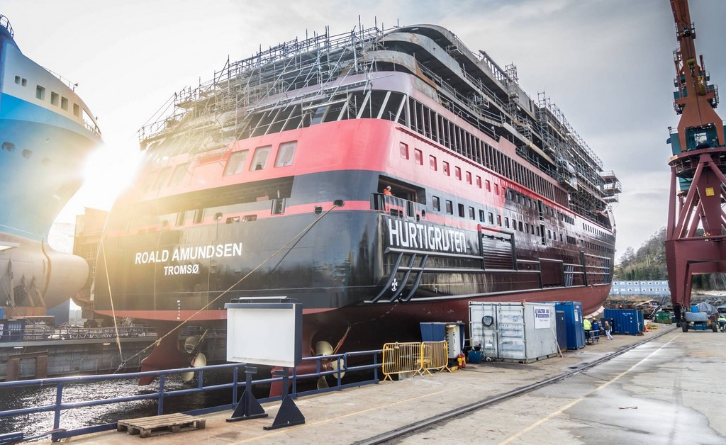 Hurtigruten, Antarctica, cancel, delay, launch, Roald, ship, expedition, shipyard, stake, shares, Kleven