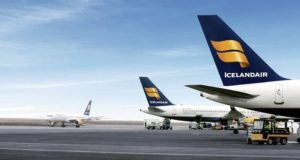 Icelandair, Iceland, WOW air, compete, routes, buy, shares, deal, brands, flights, Keflavik, Asia, India, first, consolidation, transatlantic, travel, deal, cancel, delay, Boeing, MAX, lease, cancel, 767, impact, grounded, fleet