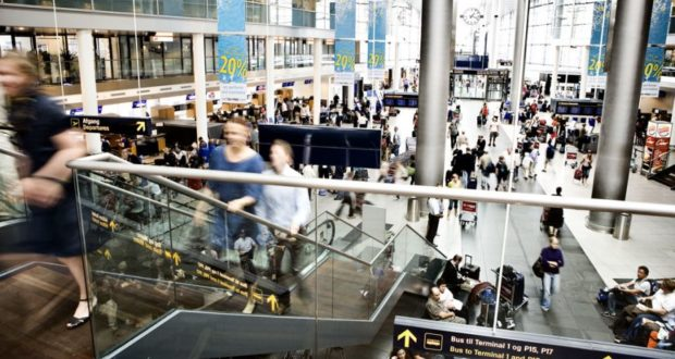 Copenhagen Airport, holiday, arrivals, spot-checks, social security, CPH, police, unemployment, Denmark, benefits