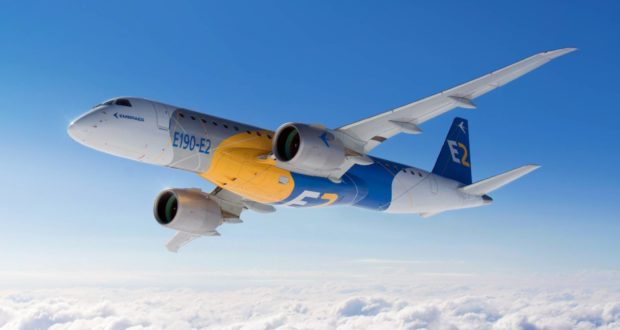 e190e2, embraer, aircraft, manufacturer, Brazil, Wideroe, launch customer, E2, fuel burn, efficient, plane, airliner, engine
