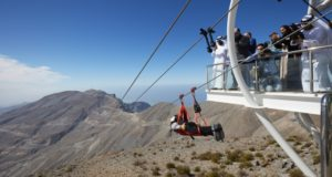 Jebel Jais, zipline, advenyture travel, tourism, flight, Ras Al Khaimah, new stage, second, mountain, UAE, emirates