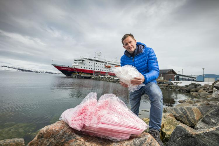 Hurtigruten, plastics, environment, cruise, first, company, phase out, single-use, ferry, Norway, fjords