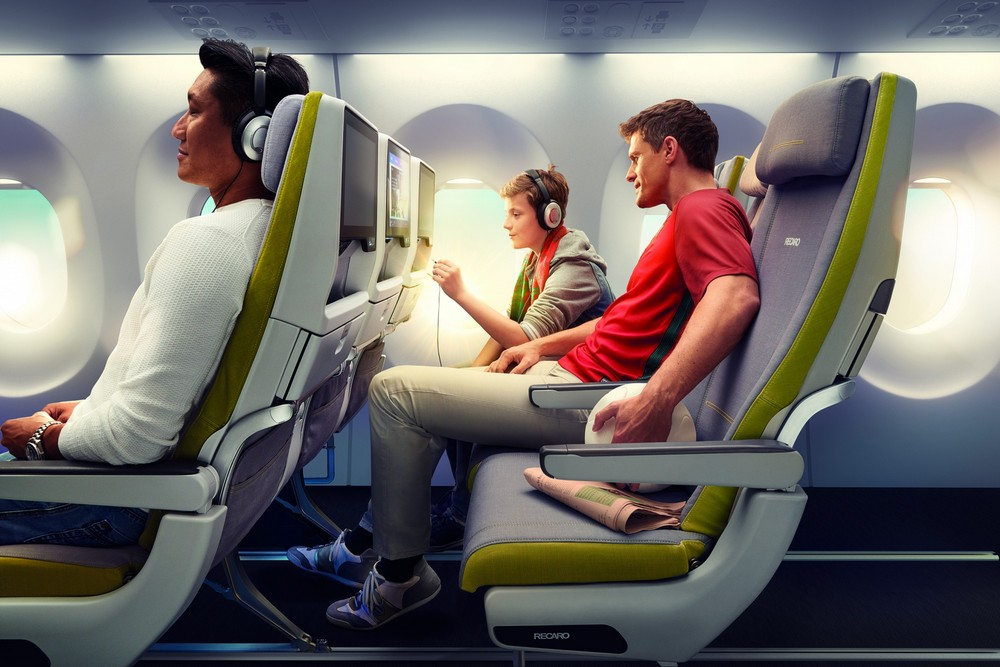 Recaro, seat, plane, aircraft, germs, bacteria, clean, disinfectant, technology, innovation