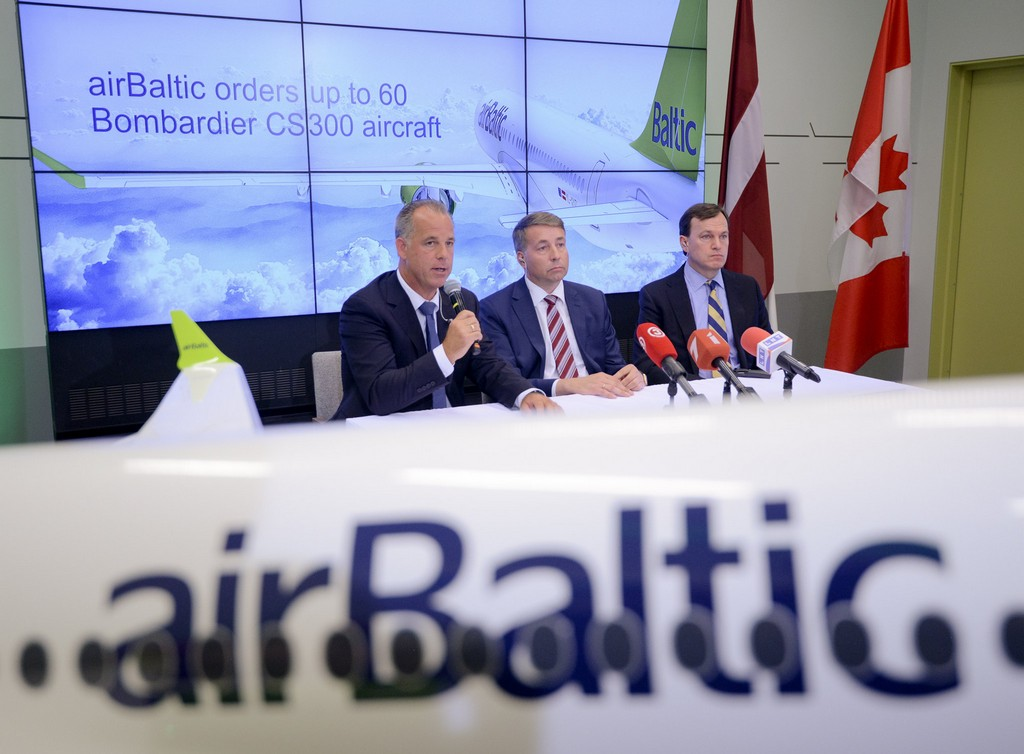 airBaltic, order, Bombardier, CS300, aircraft, type, planes, plans, Baltic, Tallinn, Vilnius, Riga, routes