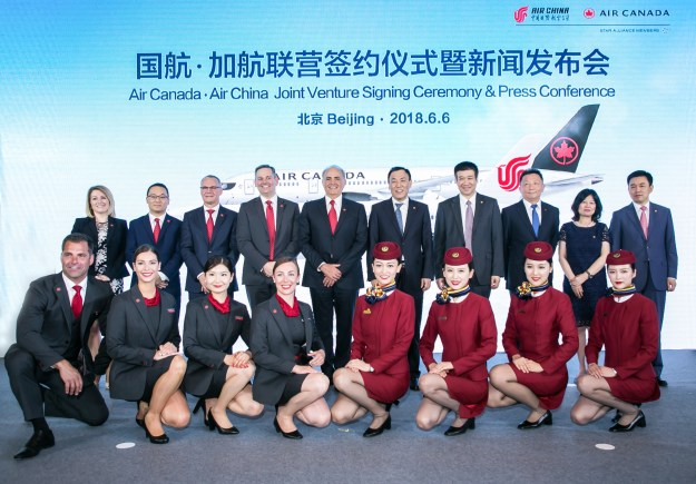 Air Canada, Air Chaina, joint venture, North America, flights, codeshare, China, Canada, connections