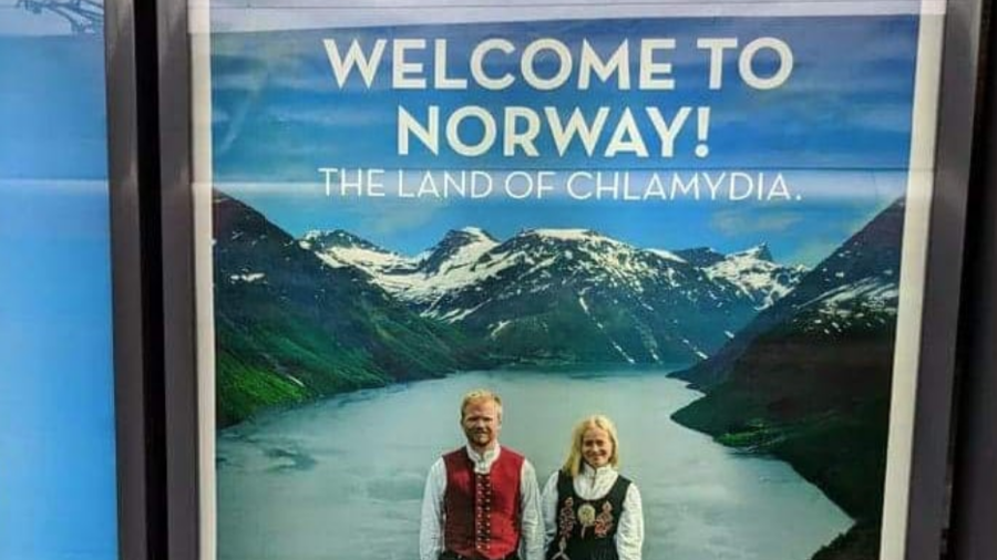 Norway, visit, sexual disease, poster, marketing, chlamydia