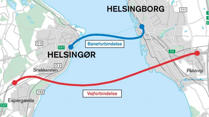 Vejdirektoratet, road, rail, tunnel, Sweden, Denmark, project, feasibility, EU, Helsingør, Helsingborg, bridge