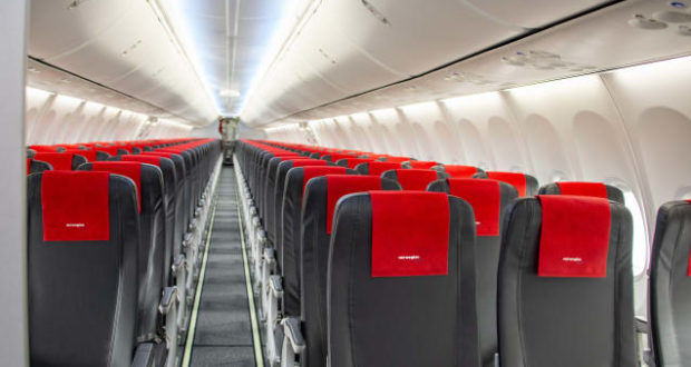 Norwegian, seat, light, weight, slim, space, pitch, tall passengers, MAX, 737, delivery, cabin