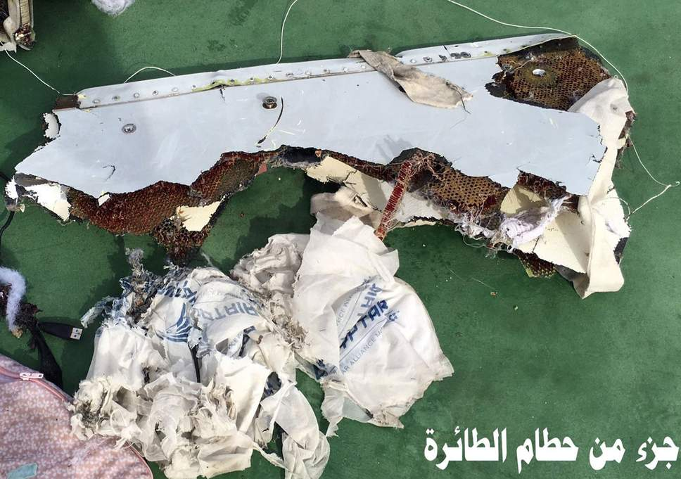 EgyptAir, wreckage, accident, crash, Mediterranean, sea, French, Egyptian, investigation, report, bomb, fire