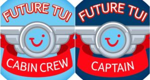 TUI, charter, airline, pilot, boy, cabine crew, girl, sexist, children, stickers, kids