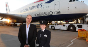 British Airways, royal, prince william, flight, duke of cambridge, BA, british Airways, Tusk, charity, wildlife, africa, save