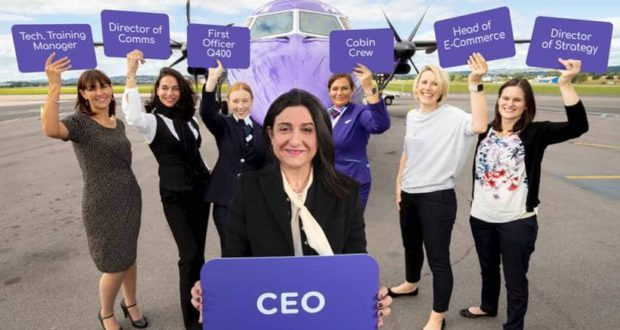 Christine Ourmières-Widener, CEO, Flybe, Flyshe, women, girls, engineer, chief, management, airline, aviation, IATA, men, gender, equality