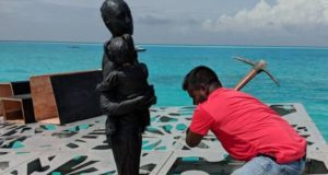 Maldives, sculptures, Coralarium, art, Islam, destroy, tidal, coral, idols, religion, diving, tourism, travel, Accor, Fairmont Maldives Sirru Fen Fushi