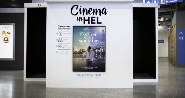 Cinema in HEL, cinema, movie, Finavia, Helsinki, airport, terminal, films, screen, service, transfer, transit, entertainment, things to do, east and west side story