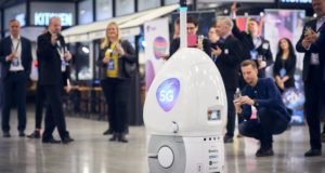 Finavia, robot, 5G, technology, airport, Helsinki, Finland, Telia, big data, security, terminal, T2, interact