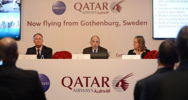 Gothenburg, Akbar Al Baker, Qatar Airways, press conference, event, quotes, oneworld, alliances, airline, Nordic, routes, travel, flights, stay, member, conflict, criticism