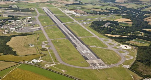 Cornwall Airport Newquay, runway, England, flights, routes, Copenhagen, Nordic, Scandinavia, south west, cliffs, tourism, travel, summer, 2019, new