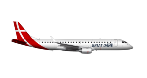 Great Dane Airlines, Bravo Tours, Aalborg, airport, Embraer, lease, new, airline, Denmark, Jutland, travel, flights, routes, charter, tickets, Nice, Edinburgh, Dublin, startup, Aller, Nilles Rejser