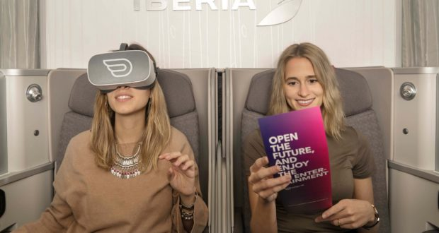 Iberia, Pico, virtual reality, flights, passengers, use, VR, headsets, available, airlines, travel, touris, diving, service, experience, safe, Inflight VR, routes, Madrid, New York, Tel Aviv, Israel, Spain, USA