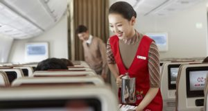Asiana Airlines, ANA, Japan, Nippon, airlines, cleanest, Skytrax, world, top ten, list, cabin, Eva Air, Taiwan, Asia, Europe, Korea, first class, routes, cut, stop, service, debt, sale, stake, asset