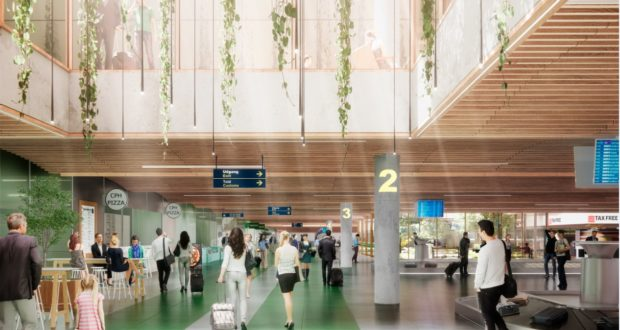 Copenhagen Airport, CPH, design, architecture, terminal, airport, expandion, light, features, stage, baggage reclaim, gates, concept
