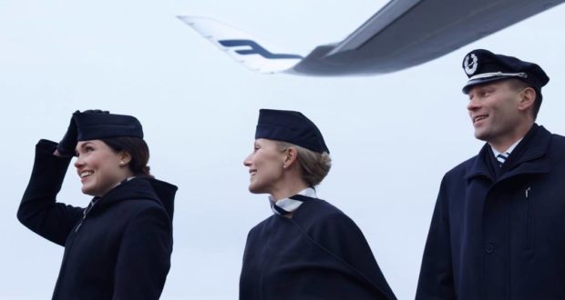 Finnair, cabin crew, flight, attendants, employ, temp, agency, hire, recruitment, salaries, unions, work, Spain, Adecco, agreement, airline, outsource