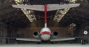 Danish Air Transport, DAT, livery, retro, MD-82, Bournemouth, hangar, paint, aviation, style, design, 1960s