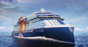 Royal Caribbean Cruises Ltd, Celebrity Edge, cruise, luxury, ship, fifth, class, edge, magic carpet, bar, cantilevered, features, order, build, Chantiers de l'Atlantique