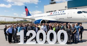 Airbus, marketing, 12,000, number, aircraft, planes, delivered, Delta, Bombardier, A220, USA, market