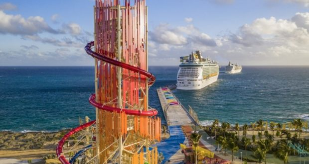 Perfect Day at CocoCay, Royal Caribbean, Caribbean, cay, island, theme park, exclusive, Bahamas, waterslide, biggest, North America, zipline, pool, cabanas, cruise