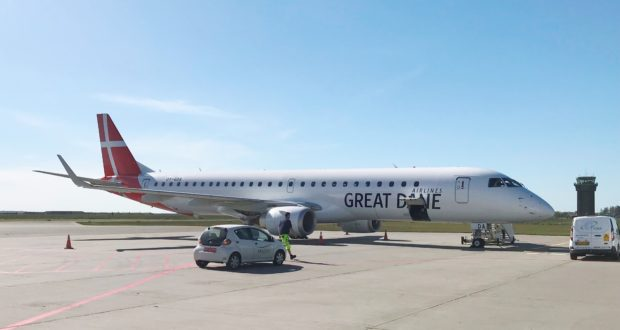 Great Dane Airlines, Bravo Tours, holiday, Stobart, Connect Airways, Virgin, news, first, aircraft, Aalborg, airport, routes, charter, scheduled, destinations, Edinburgh, Dublin, Nice, Karsten Lauritzen,MP, Denmark, airline, new, Embraer, Flybe, E195, seats, leasing