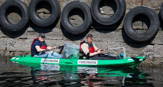 GreenKayak, kayak, river, environment, rubbish, garbage