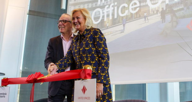 Karl Wistrand, Yvonne Sörensen Björud, Office One, open, United Spaces, co-working, Arlanda, airport, Stockholm, Sigtuna, inauguration