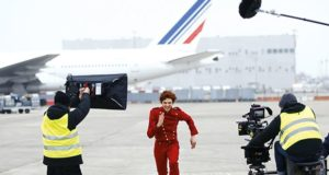 film, Air France, tarmac, producer, actor, camera