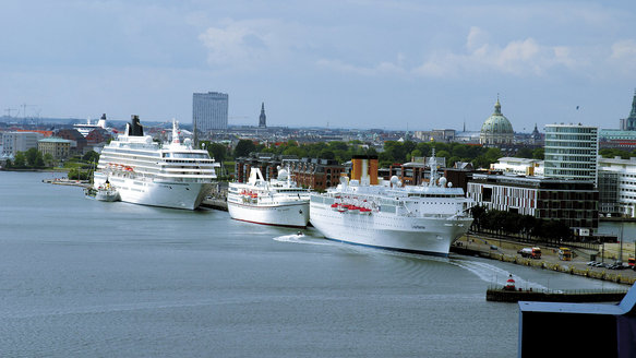 pollution, cruise, ship, car, Copenhagen, city, Europe